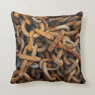 Rusty Metal Chain Link Pillow