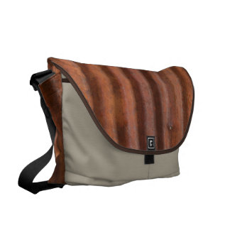 RUSTY METAL MESSENGER BAG