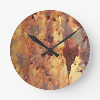 Rusty Metal Round Clock