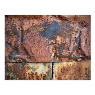 Rusty Metal Siding Old Industrial Building Postcard