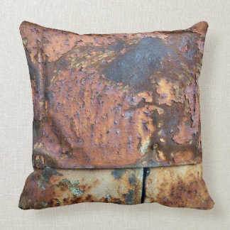 Rusty Metal Siding Old Industrial Building Throw Pillow