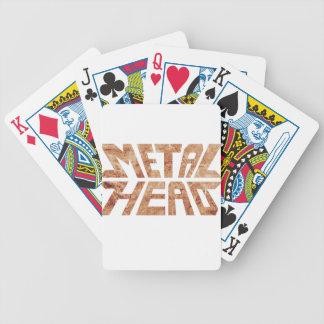 Rusty MetalHead Bicycle Playing Cards
