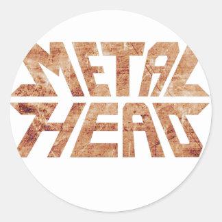 Rusty MetalHead Classic Round Sticker