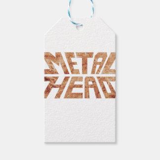 Rusty MetalHead Gift Tags
