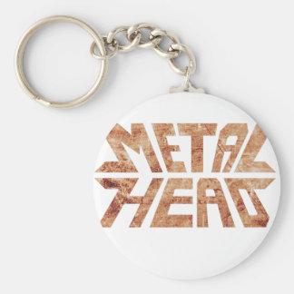 Rusty MetalHead Keychain