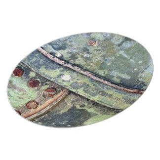 Rusty Nail Grunge Plate