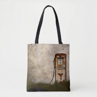 Rusty Old Antique gas pump Tote Bag