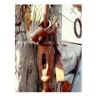 Rusty Old Chain And Tools Postcard