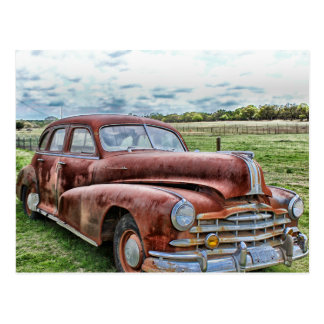 Rusty Old Classic Car Vintage Automobile Postcard