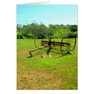 Rusty Old Farm Equipment Greeting Cards