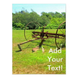 Rusty Old Farm Equipment Magnetic Invitations