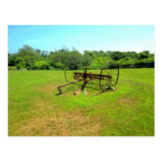 Rusty Old Farm Equipment Postcard