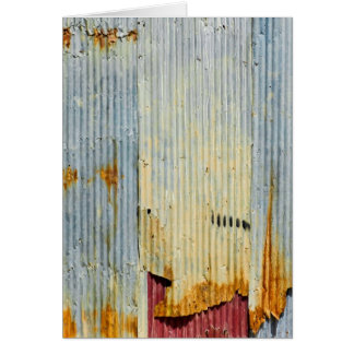 Rusty old metal texture card