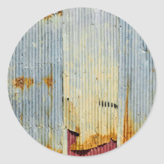 Rusty old metal texture classic round sticker