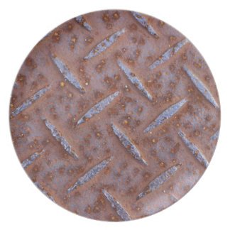 Rusty Old Metal Texture Party Plates