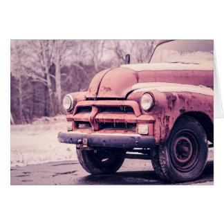 Rusty Old Truck - Blank Greeting Card
