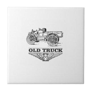 rusty old truck ceramic tile