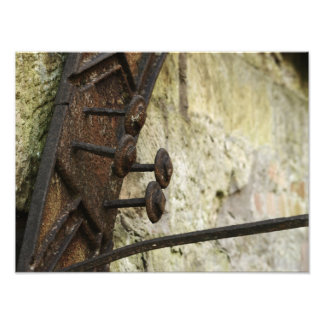 Rusty Pins On Old Water Mill Photograph