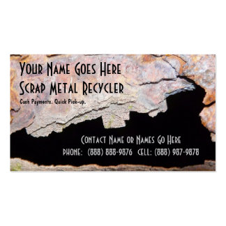 Rusty Pipe Metal Work or Scrap Recycling Business Card