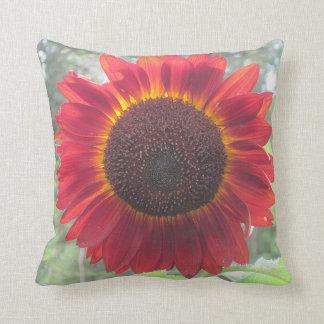 Rusty Red Sunflower Pillow