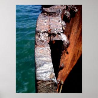 Rusty Remains of the Arizona Battleship Poster