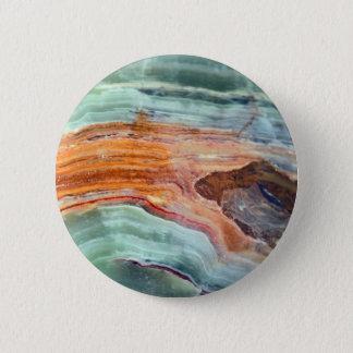 Rusty Sagey Minty Quartz 2 Inch Round Button