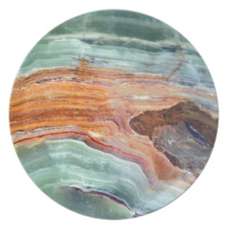 Rusty Sagey Minty Quartz Party Plates
