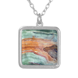 Rusty Sagey Minty Quartz Silver Plated Necklace