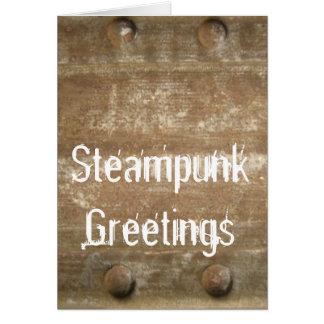 Rusty Scratched Metal, Steampunk Card