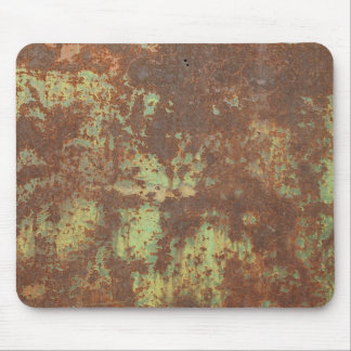 rusty sheet metal mousepad