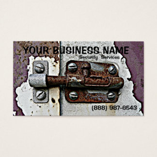 Rusty Slide Bolt  Lock Security Business Card