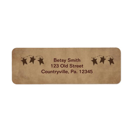 Rusty Stars Address Label