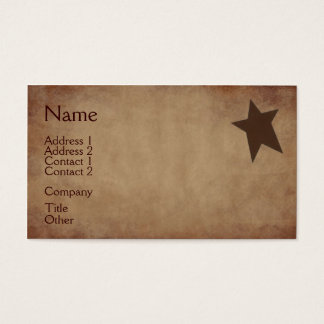 Rusty Stars Business Card