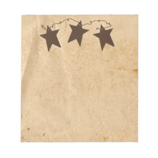Rusty Stars Notepad