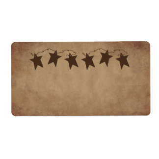 Rusty Stars Product Label