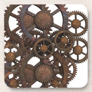 Rusty Steampunk Metal Gears Coaster