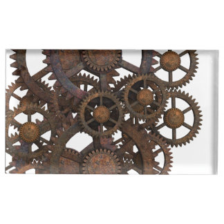 Rusty Steampunk Metal Gears Place Card Holder