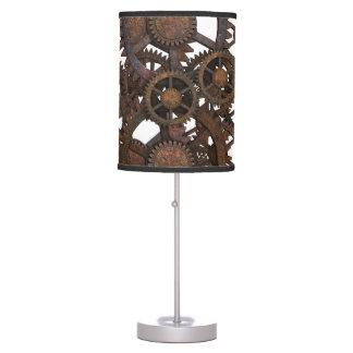 Rusty Steampunk Metal Gears Table Lamp