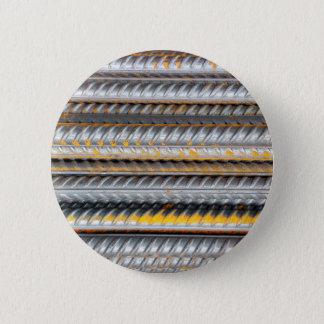 Rusty Steel Bars Pattern 2 Inch Round Button