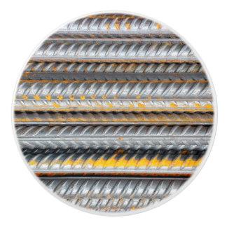 Rusty Steel Bars Pattern Ceramic Knob