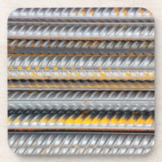 Rusty Steel Bars Pattern Coaster