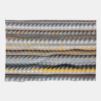 Rusty Steel Bars Pattern Kitchen Towel