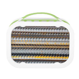 Rusty Steel Bars Pattern Lunch Box