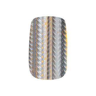 Rusty Steel Bars Pattern Minx Nail Art