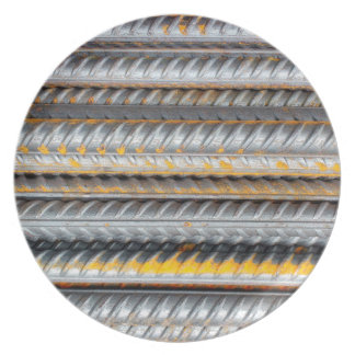 Rusty Steel Bars Pattern Party Plates