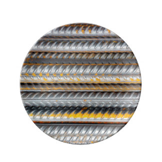 Rusty Steel Bars Pattern Porcelain Plates