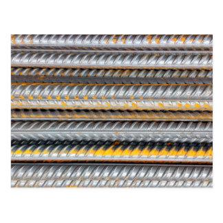Rusty Steel Bars Pattern Postcard