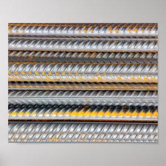 Rusty Steel Bars Pattern Poster