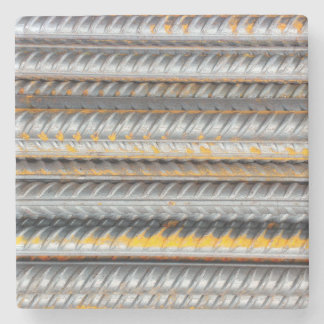 Rusty Steel Bars Pattern Stone Coaster