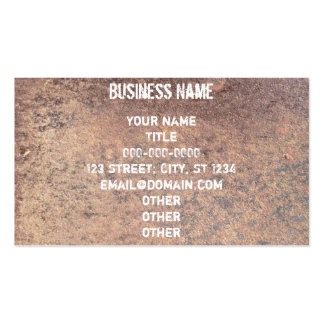 Rusty Steel Pack Of Standard Business Cards